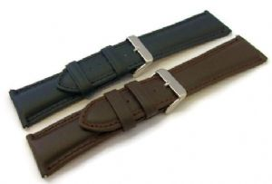 Extra Wide Soft Calf Padded Leather Watch Strap